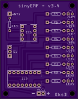 tinyEMF - PCB render (top)