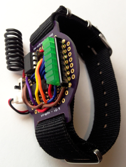 An EMF sensor built on the strapOn protoboard.