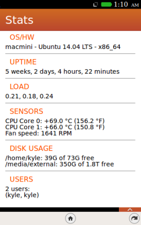 Stats, for Firefox OS - screenshot.